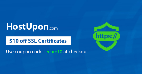 SSL secured website HostUpon