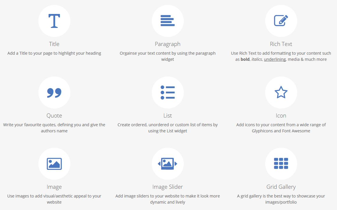 sitepad widgets