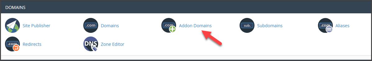 Addon domain step 1