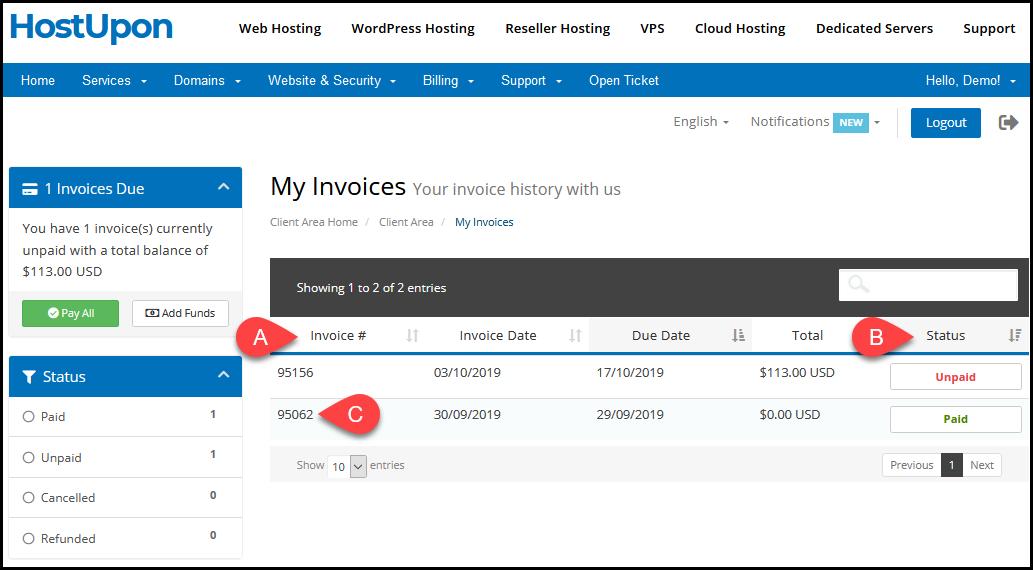 invoices 2