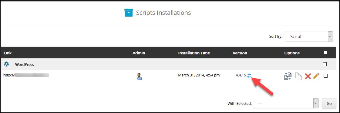update wordpress step 3
