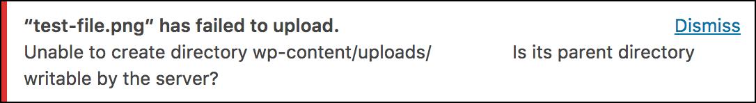 Wordpress uplaod error